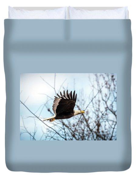 Bald Eagle Flight Duvet Cover