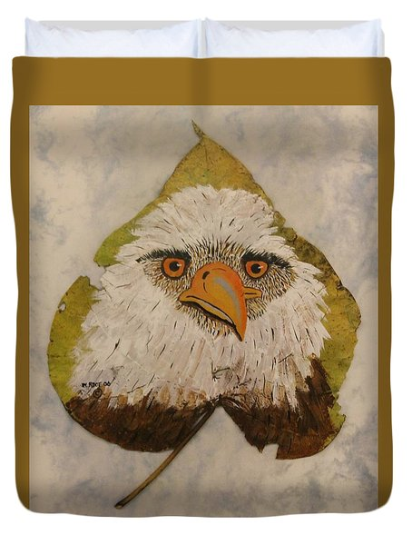 Bald Eagle Front View Duvet Cover by Ralph Root