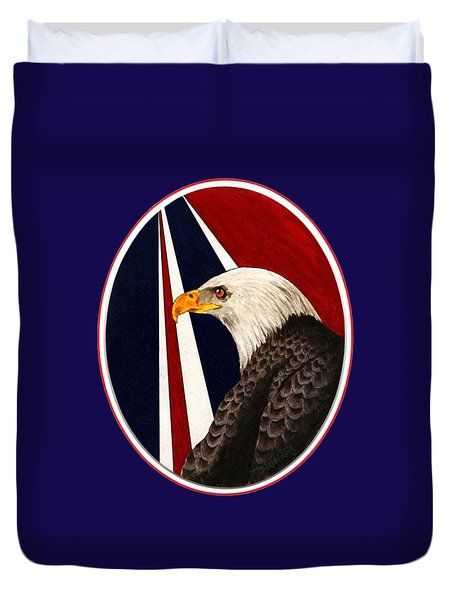 Bald Eagle T-shirt Duvet Cover by Herb Strobino