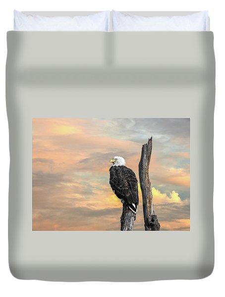 Bald Eagle Inspiration Duvet Cover