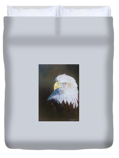 Bald Eagle Duvet Cover by Jean Yves Crispo