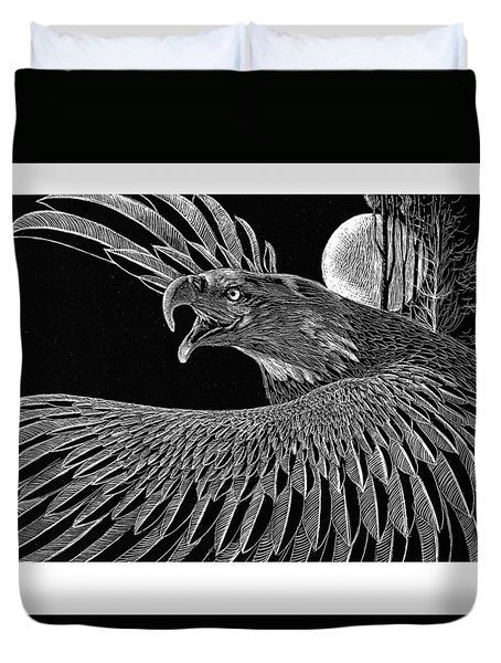 Bald Eagle Duvet Cover by Kean Butterfield