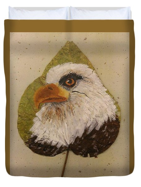 Bald Eagle Side Veiw Duvet Cover by Ralph Root