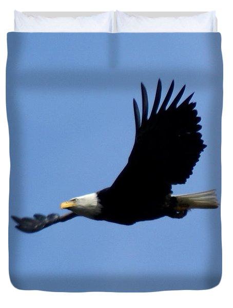 Bald Eagle Soaring High Duvet Cover