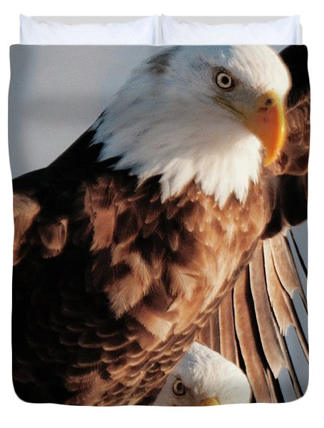Bald Eagles Duvet Cover
