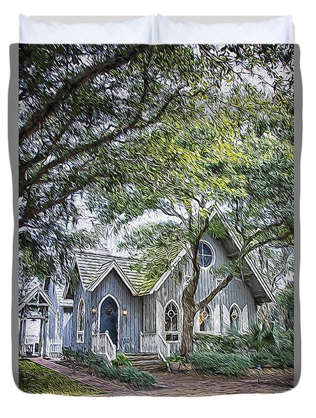 Bald Head Island Chapel Duvet Cover