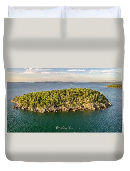 Bald Pocupine Island, Bar Harbor Duvet Cover
