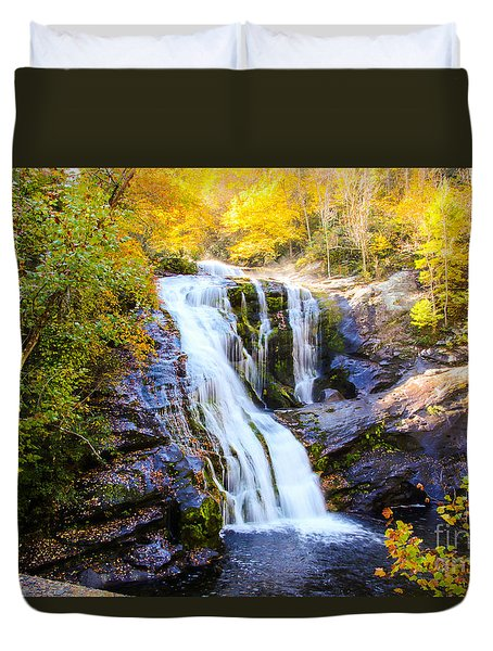 Bald River Falls II Duvet Cover by Marilyn Carlyle Greiner