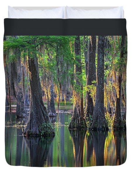 Baldcypress Trees, Louisiana Duvet Cover