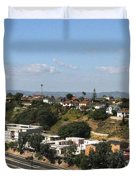 Baldwin Hills Over Stocker Street  Duvet Cover