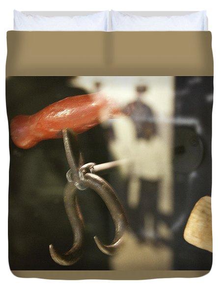 Duvet Cover featuring the photograph Bale Hooks by Miroslava Jurcik