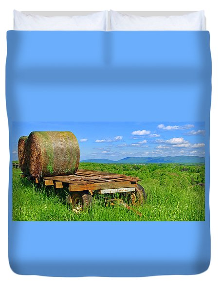 Bales At Rest Duvet Cover