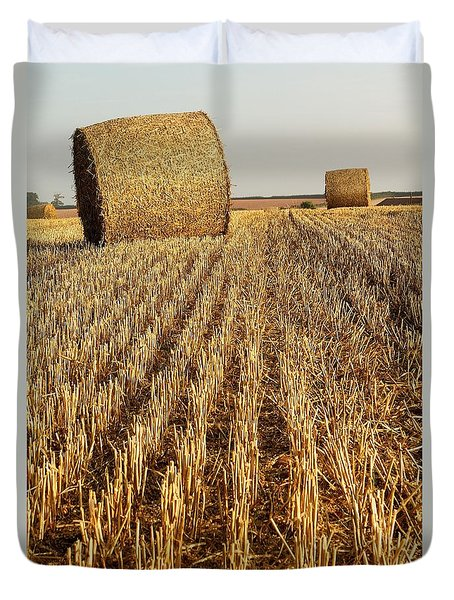 Bales Of Hay Duvet Cover