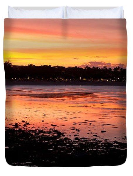 Bali Fisherman Sunset Duvet Cover