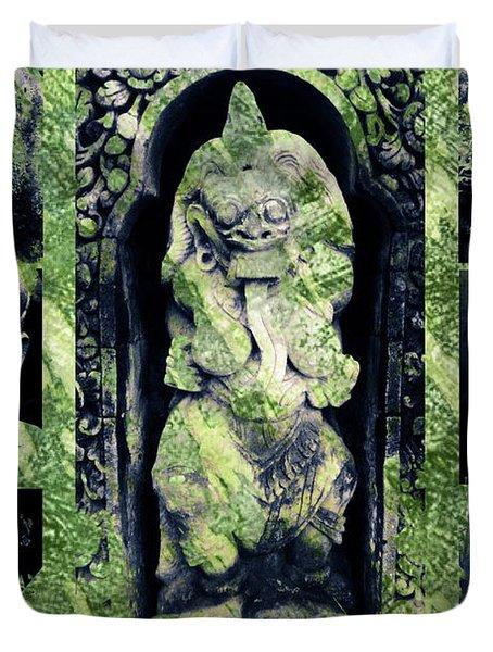 Bali Masks Duvet Cover