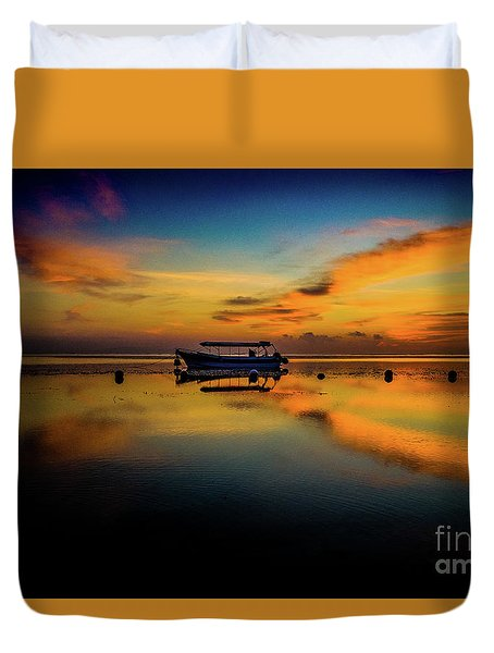 Magical Bali Sunrise Duvet Cover