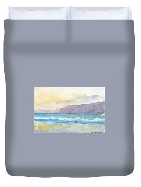 Ballenskelligs Beach Duvet Cover