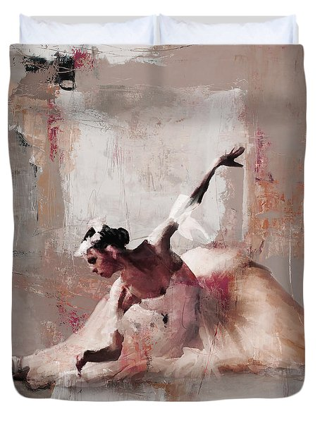Ballerina Dance On The Floor 02 Duvet Cover by Gull G