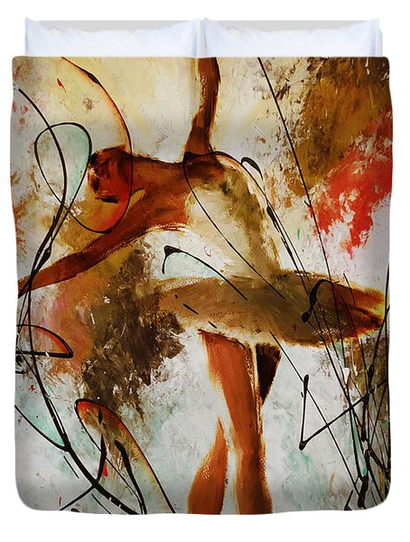 Ballerina Dance Original Painting 01 Duvet Cover by Gull G