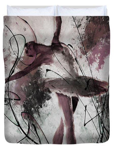 Ballerina Dance Painting 0032 Duvet Cover by Gull G