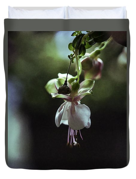 Duvet Cover featuring the photograph Ballerina Flower by Paula Porterfield-Izzo