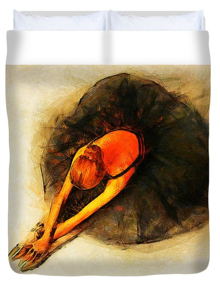 Ballerina Girl - Amore  Duvet Cover by Sir Josef - Social Critic -  Maha Art