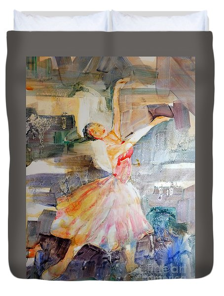 Ballerina In Motion Duvet Cover