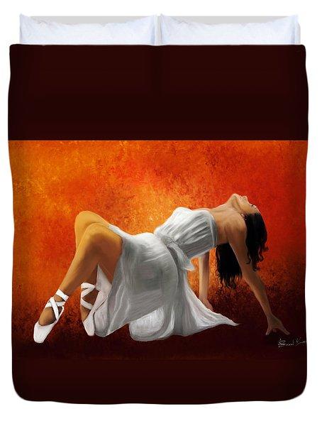 Ballerina In White Duvet Cover