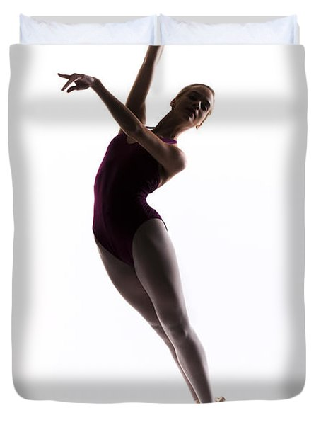 Ballerina Jump Duvet Cover by Steve Williams