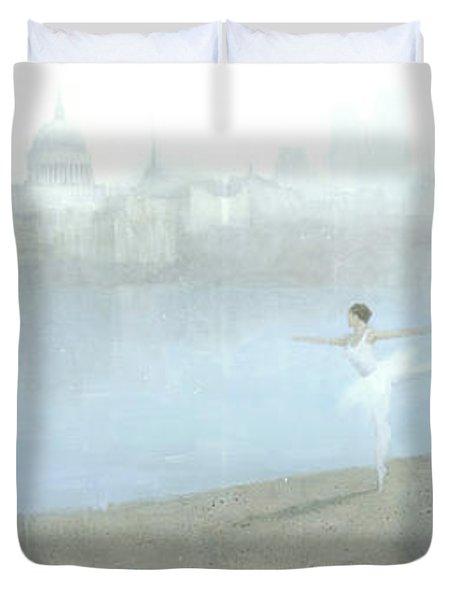 Ballerina On The Thames Duvet Cover