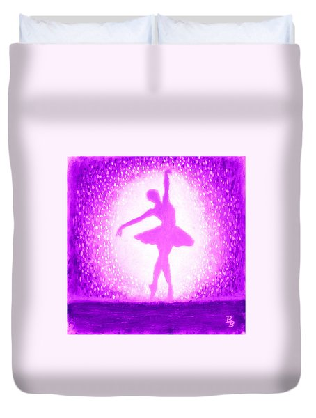 Ballerina Purple And Pink Duvet Cover