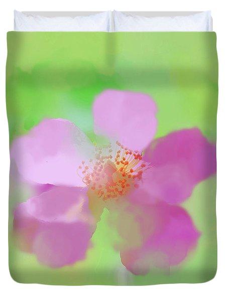 Ballerina Rose Watercolorish Duvet Cover by Susan Lafleur