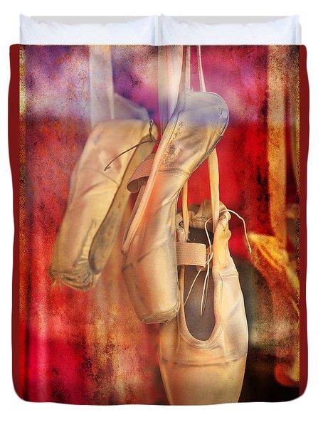Ballerina Shoes Duvet Cover by Craig J Satterlee
