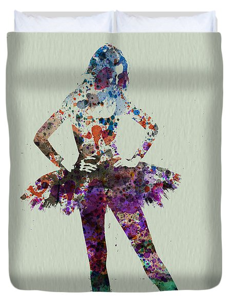 Ballerina Watercolor Duvet Cover