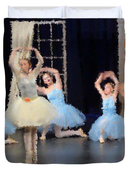 Ballerinas Dancing Duvet Cover