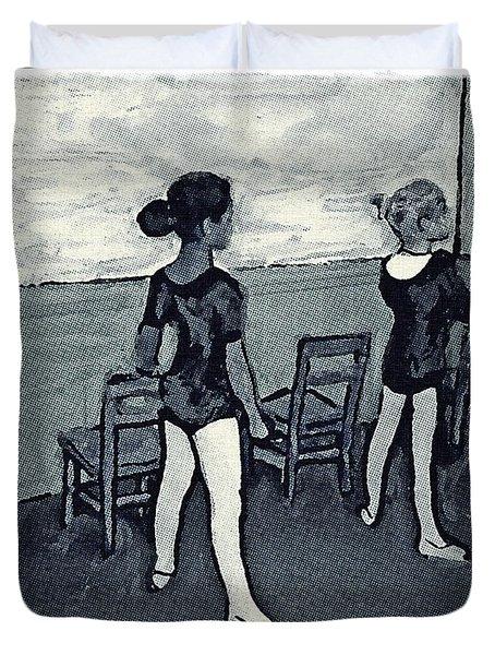 Ballet Class Monochrome Duvet Cover
