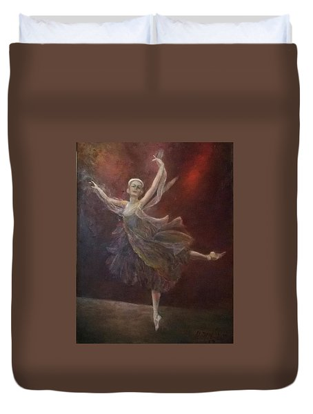 Ballet Dancer Anna Pavlova Duvet Cover