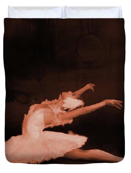 Ballet Dancer In White 01 Duvet Cover