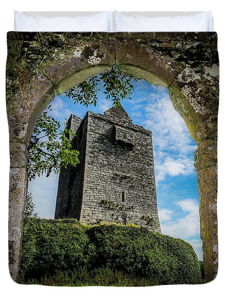 Duvet Cover featuring the photograph Ballinalacken Castle In County Clare, Ireland by James Truett