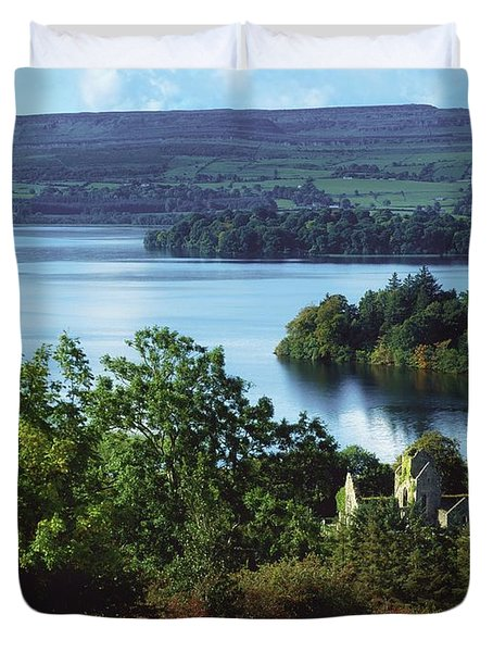 Ballindoon Abbey, Lough Arrow, County Duvet Cover by The Irish Image Collection