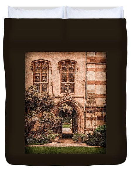 Oxford, England - Balliol Gate Duvet Cover