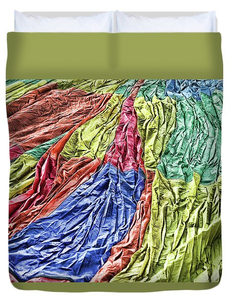Balloon Abstract 1 Duvet Cover by Marie Leslie
