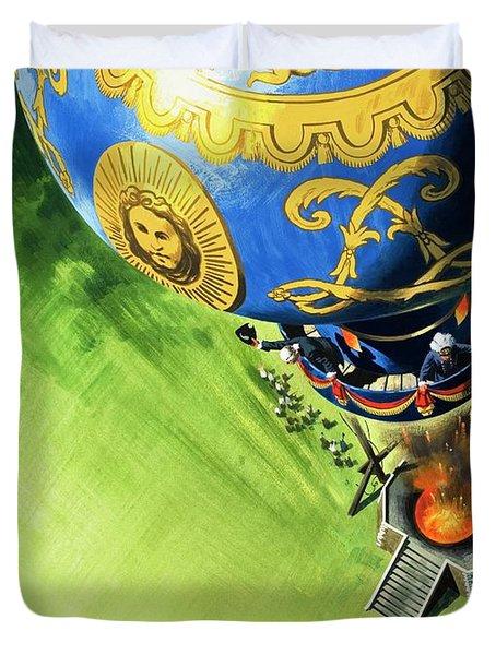 Balloon Ascent  Duvet Cover