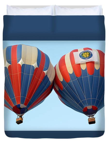 Duvet Cover featuring the photograph Balloon Bump by AJ Schibig