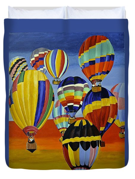 Balloon Expedition Duvet Cover