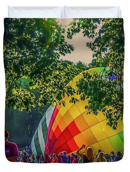 Balloon Fest Spirit Duvet Cover