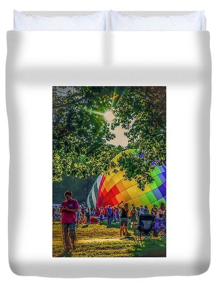 Duvet Cover featuring the photograph Balloon Fest Spirit by Kendall McKernon