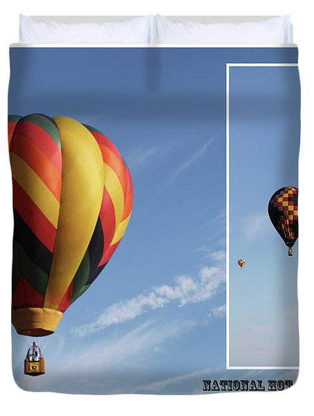 Balloon Festival Indianola, Iowa Duvet Cover