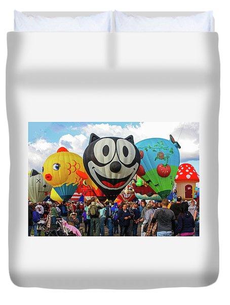 Balloon Fiesta Albuquerque II Duvet Cover