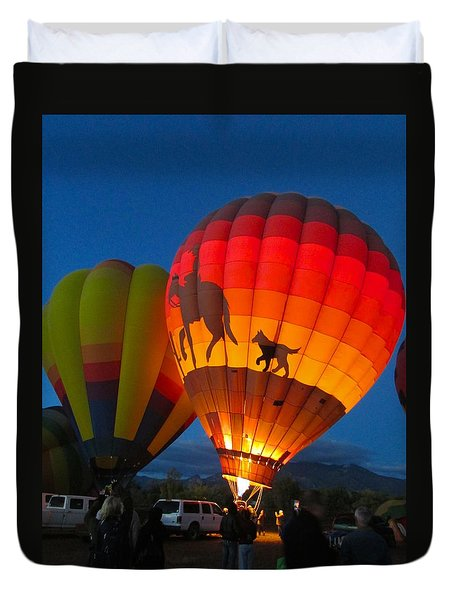 Balloon Glow Duvet Cover by Brenda Pressnall